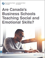Report cover for Are Canada's Business Schools Teaching Social and Emotional Skills?
